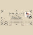 postcard with us capitol building in washington dc vector image vector image