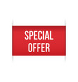red banner special offer isolated vector image vector image