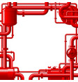 red gas pipes vector image vector image