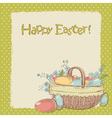Retro styled hand drawn vintage Easter card vector image vector image