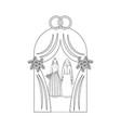 same sex wedding outline vector image vector image