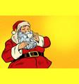 santa claus drinking tea or coffee vector image
