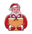 santa claus with gift christmas vector image