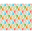 seamless pattern with stylized linear hearts of vector image