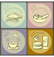 set icons spa themed vector image vector image