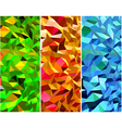 Set of Abstract backgrounds with triangle vector image vector image