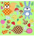 set of textile stickers vector image vector image
