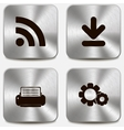 set web icons on metallic buttons vol4 vector image vector image