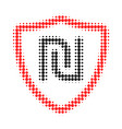 shekel shield halftone dotted icon vector image vector image