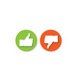 social media hand icons vector image