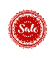 Stamp with text Sale written inside Lettering vector image vector image