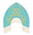 stock russian national headdress kokoshnik with vector image vector image