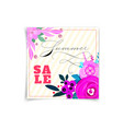 summer sale banners decorate with flowers and vector image vector image