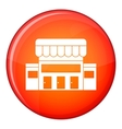 Supermarket building icon flat style vector image vector image