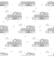 Thin line suburban american houses seamless vector image vector image