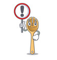 with sign wooden fork character cartoon vector image