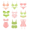 Women Underwear In Pastel Colors Matching Sets vector image