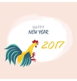 Year red rooster on the Chinese calendar