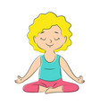 yoga pose lotos vector image