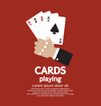 Card Playing EPS10 vector image
