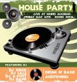 house party flyer vector image