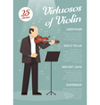 Music Advertising Poster vector image