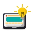 technology web page idea creativity vector image