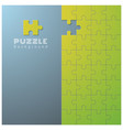 Abstract background with incomplete jigsaw puzzle vector image