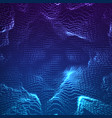 abstract blue point mesh background vector image vector image