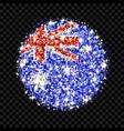 australia flag sparkling badge vector image vector image