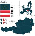 Austria and European Union map vector image vector image