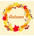Autumnal leaves wreath with acorns vector image vector image