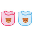 baby boy and baby girl apron vector image vector image