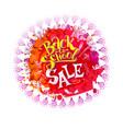 Back to school sale on splash vector image