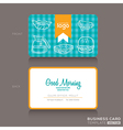 bakery shop or cafe Business card vector image vector image