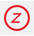 basic font letter z icon design vector image