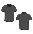 black dark gray polo t-shirt template in front vector image vector image