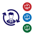 blue human resources icon isolated on white vector image