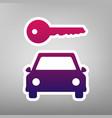 car key simplistic sign purple gradient vector image vector image
