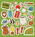 cartoon baseball game player clothes vector image vector image