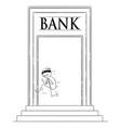 Cartoon man or robber in mask running away