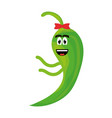 chilli pepper comic character vector image vector image