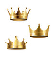 crown set isolated white background vector image vector image