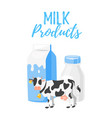 dairy products milk packing vector image vector image