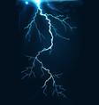 dark lightning flash vector image vector image
