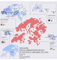 Dot And Flag Map Of Hong Kong Infographic Design vector image vector image