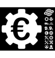 Euro Development Gear Icon With Tools Bonus vector image vector image