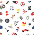 flat car racing icons pattern or background vector image