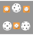 Flat floorball ball for logo the team and the cup vector image vector image