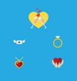 flat icon heart set of celebration save love vector image vector image